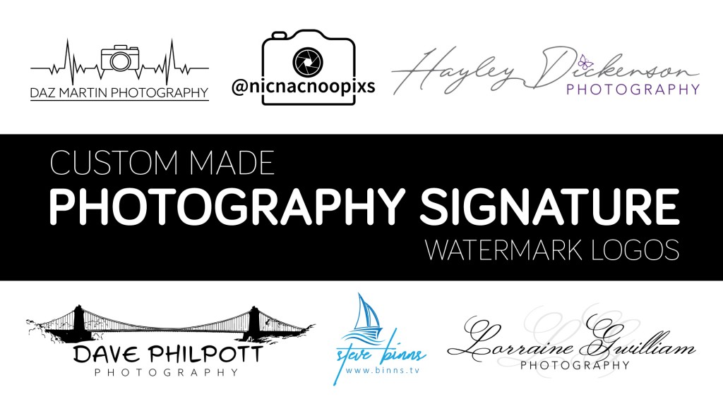 custom made photography signature watermark logo